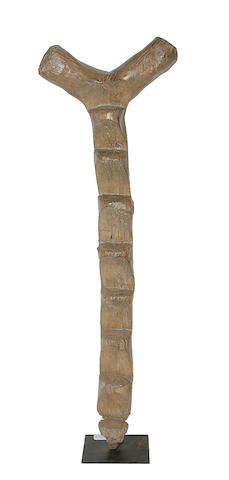 A tall Dogon wood ladder,
