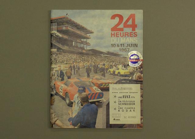 A programme for the 1967 Le Mans 24 hour race,