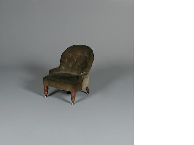 A Victorian stained beech armchair
