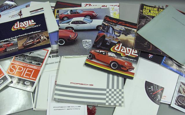 A good lot of Porsche and Porsche Car Club ephemera,
