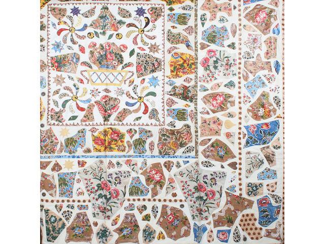 An applied patchwork quilt