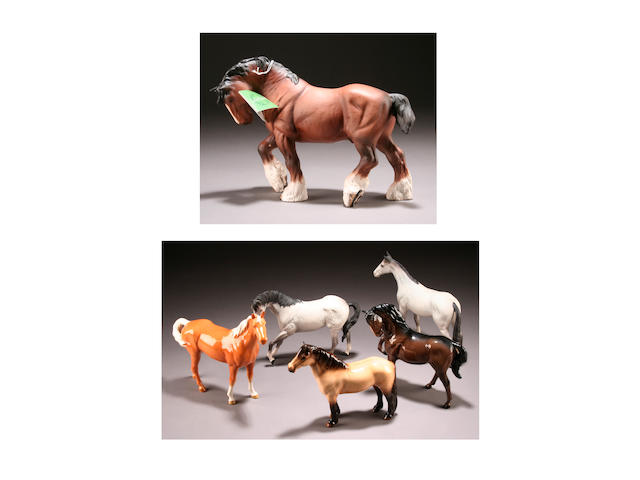 A collection of Beswick horse figures