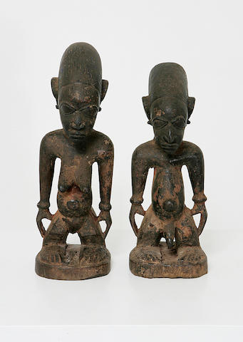 A good pair of Yoruba wood figures,