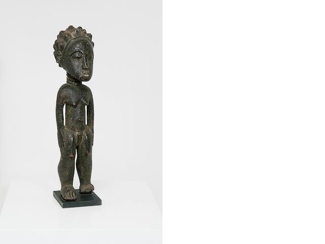 A Baule wood ancestor figure,