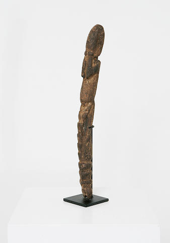 A Dogon wood sculpture of a totemic figure,