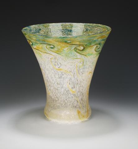 A large Monart Paisley Shawl vase Shape WK