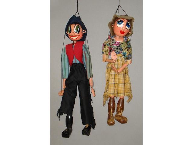 Pelham Puppet Wonkey Cowboy and Cowgirl, 2