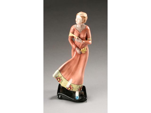 A Staffordshire Goldscheider figure of a female