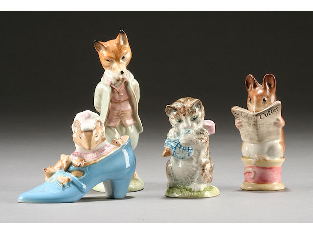Four Beswick Beatrix Potter figures