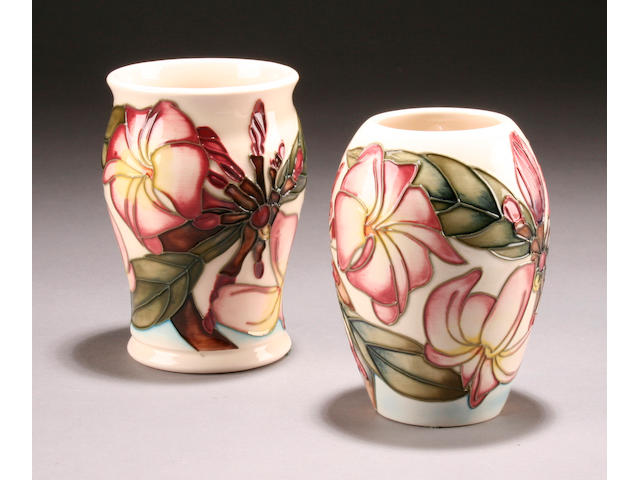 Two Moorcroft 'Frangipane' vases