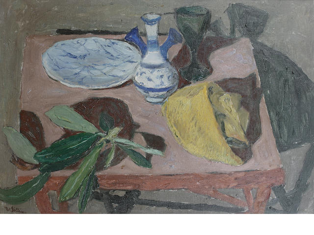 Sir William George Gillies, CBE LLD RSA PPRSW RA (British, 1898-1973) Still life by lamp light