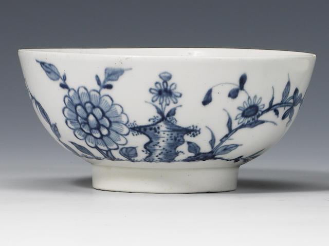 A very rare Worcester bowl circa 1753