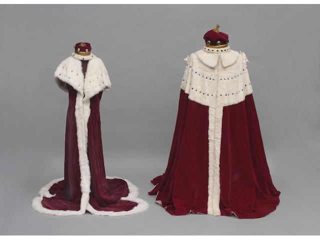 The Lord Woodbridge's Robe and Coronet