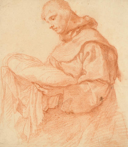 Florentine School, 16th Century A Franciscan monk 290 x 253 mm. unframed