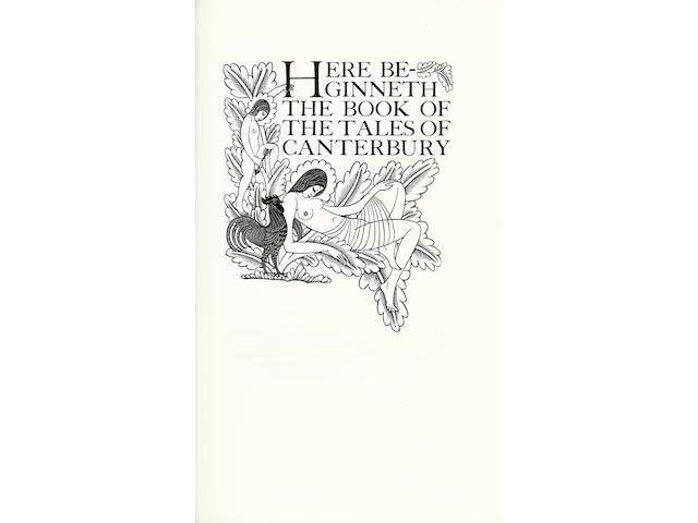 GOLDEN COCKEREL PRESS CHAUCER (GEOFFREY) The Canterbury Tales, 4 vol., NUMBER 108 OF 475 COPIES