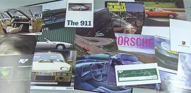 A good lot of Porsche brochures,