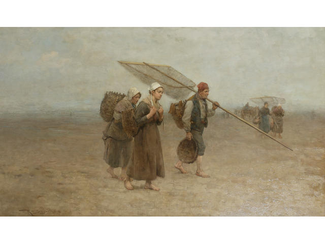 Robert McGregor, RSA (British, 1847-1922) Breton fisherfolk returning