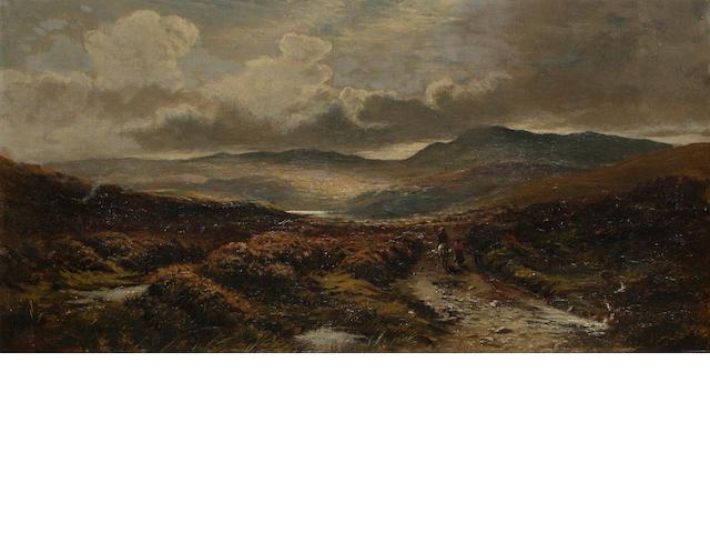 Samuel Bough, RSA (British, 1822-1878) Moorland landscape