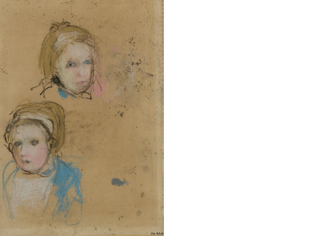 Joan Eardley, RSA (British, 1921-1963) Two Glasgow girls, studies