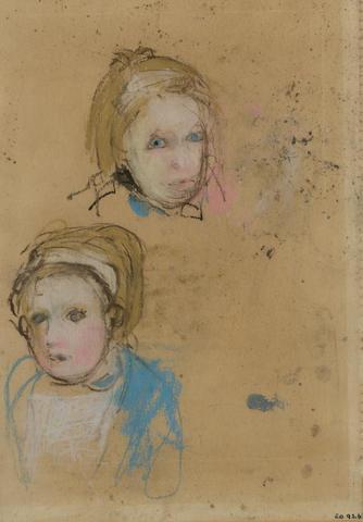 Joan Eardley, RSA (British, 1921-1963) Two Glasgow girls, studies