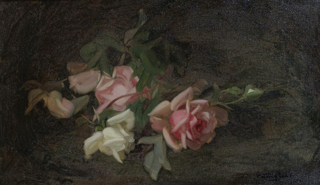 James Stuart Park (British, 1862-1933) Still life of pale pink and white roses