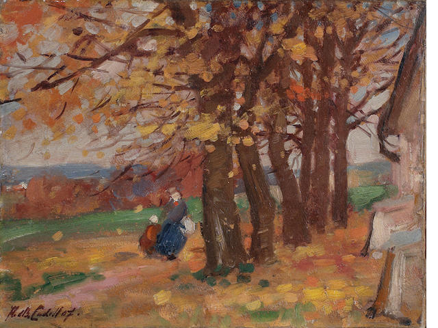 Francis Campbell Boileau Cadell, RSA RSW (British, 1883-1937) Figures in a landscape