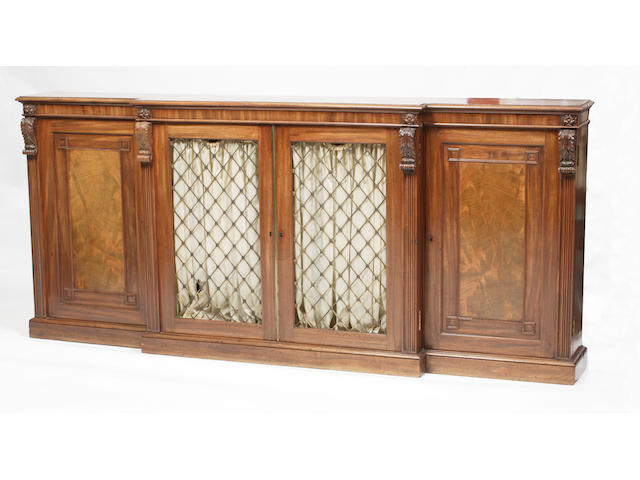 A George IV breakfront side cabinet