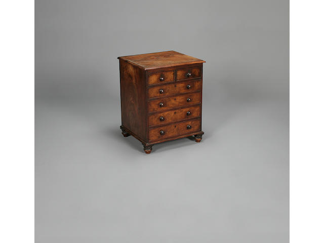 A 19th century mahogany chest of drawers,