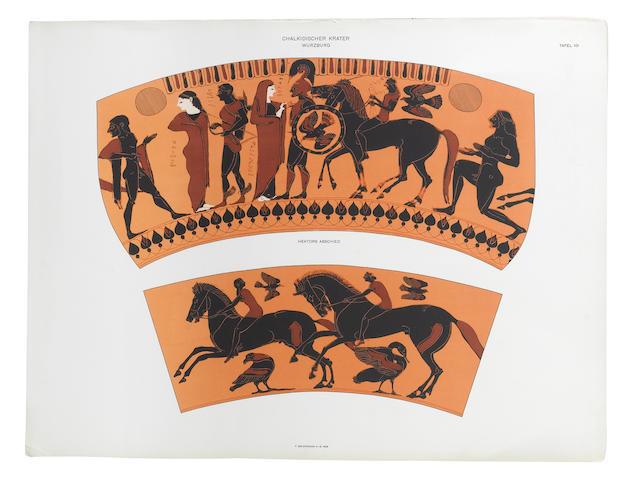 FÜRTWÄNGLER (ADOLF), FRIEDRICH HAUSER and KARL REICHOLD Griechische Vasenmalerei auswahl hervorragender Vasenbilder, 6 vol. (3 vol. text, 3 vol. plates)