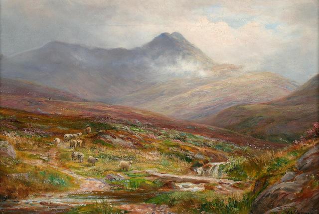 William Lakin Turner (British, 1867-1936) A stream from Skiddaw,