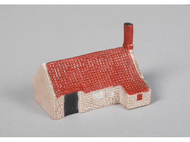 A WH Goss model of The Old Smithy, Gullane