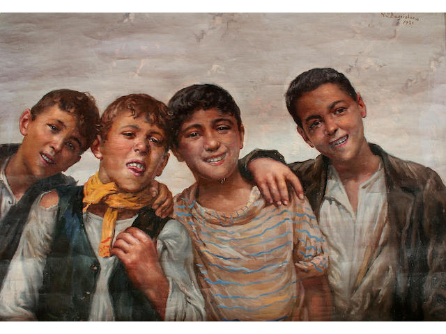 Vincenzo Busciolano (early/mid 20th century) Neapolitan street children, a pair,
