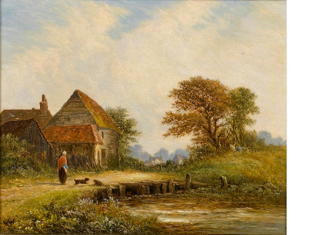 Walter Williams (British, 1835-1906) 'Scene in Surrey'; 'The Coming Storm' Both 20.5 x 25.5 cm. (8 x