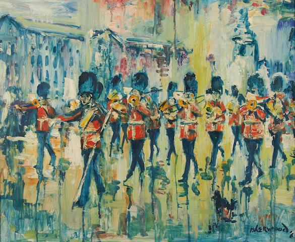 James Lawrence Isherwood (British, 1917-1988) 'Rain, Guards Band, Buckingham Palace',