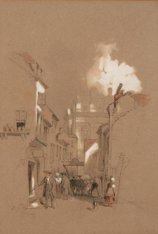 David Roberts, RA (British, 1796-1864) 'Old Chelsea',