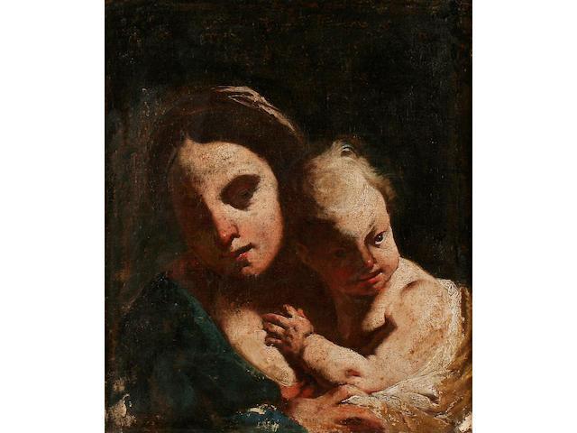 Italian School 17th century Madonna and Child,