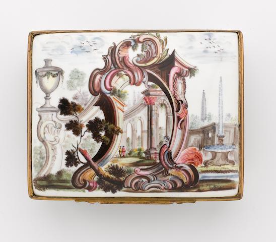 A South Staffordshire enamel snuff box mid 18th century