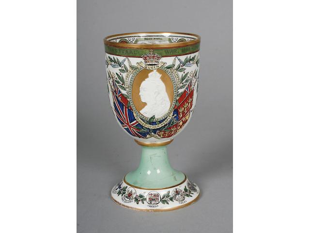 A Copeland Transvaal commemorative goblet circa 1900,