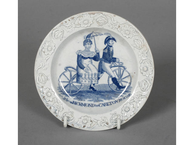 A nursery plate commemorating Visit from Richmond to Carlton House