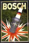 A Bosch Spark Plug/Porsche advertising board,