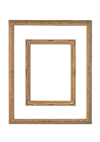 An Italian 17th Century style carved and gilded frame