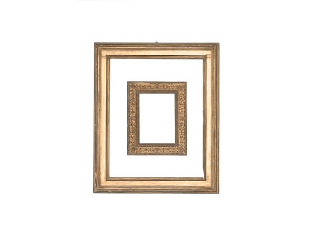 An Italian 17th Century gilded cassetta frame