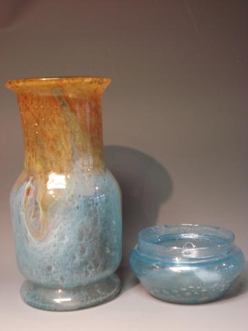 A Monart vase Shape QG