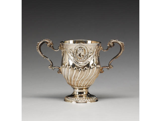 A George III Irish silver two-handled cup, by Richard Williams, Dublin 1775,