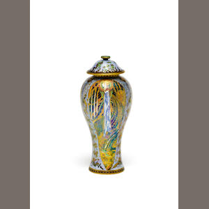 Daisy Makeig-Jones for Wedgwood 'Candlemas' a Fairyland Lustre Vase and Cover, circa 1920