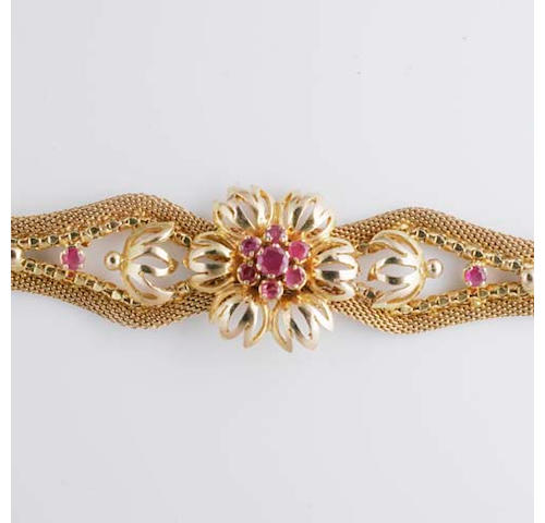 A ruby bracelet,
