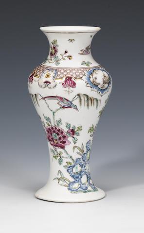 A rare early Bow porcelain vase circa 1750