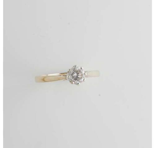 A diamond nine stone panel ring, (4)