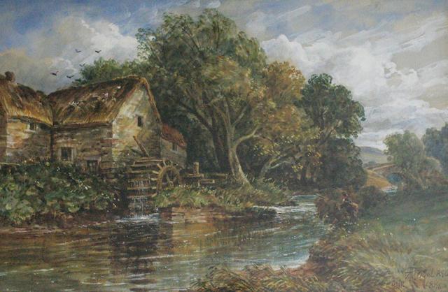 """Arthur Perigal, RSA RSW (British, 1816-1884) """"Eden Mill"""""""