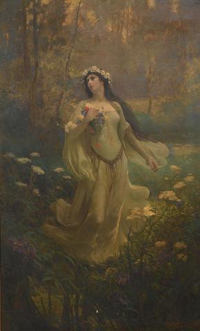 Joseph Kirkpatrick (British, 1872-1930) Ophelia 147 x 90 cm. (57 3/4 x 35 1/2 in.)